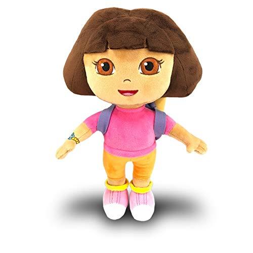 FVBNH Muñeca de Peluche Mochila Escolar Botas Suave muñeco de Peluche Bolsa de Rescate de Juguete con Estrellas Mapa de Estrellas para niños 30cm Dora