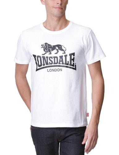 Lonsdale T-Shirt Logo - Camiseta Hombre, Color Blanco, Talla
