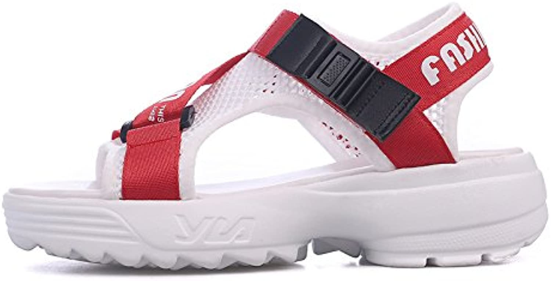 QQWWEERRTT Mode Sandalen Weiblichen Sommer Neue Freizeitschuhe Plattform Plattform Plattform Steigung mit Vintage Sandalen Sandalen  5c0989
