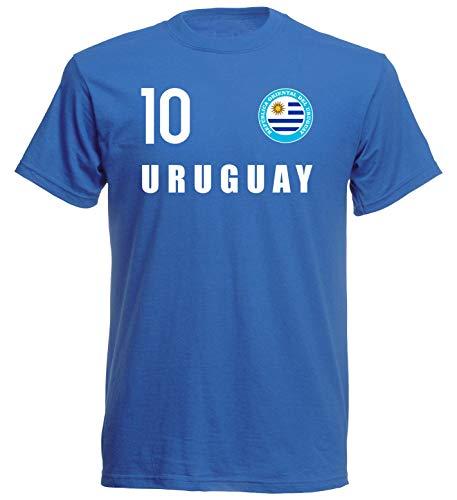 Nation Uruguay FH 10 BL - Camiseta con escudo azul XL