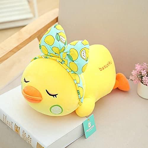 XINQ 25-45cm Make-up Gelbe Ente Plüsch lustige gefüllte Cartoon Tiere Rote Lippen Enten Bowtie Long Lash Duck Puppe Spielzeug Kreuz Body Tasche für Schule ca.45cm Lashcrossbodybag