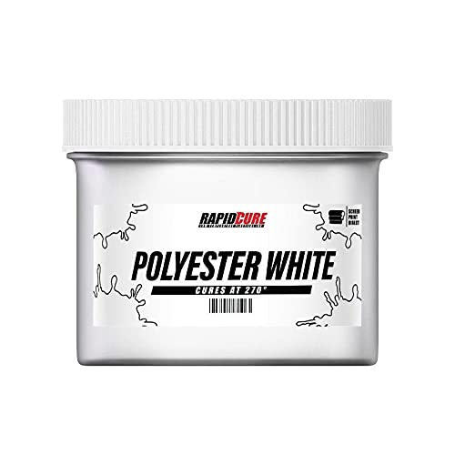 Rapid Cure Polyester White Plastisol Ink for Screen Printing Low Temperature Fast Curing Ink by Screen Print Direct Gallon - 128 oz.