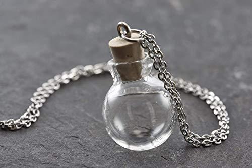 Wunschkugel mini silber echtes Boro Glas befüllbar personalisiert…