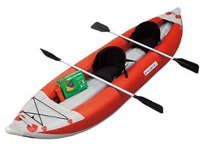 MK-1205NR Maxxon Two Man Non Self-Bailer Inflatable Kayak (Red, 12-Feet 5-Inch) by Maxxon Inflatables