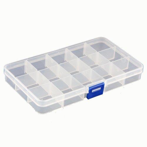 15 Fächer Plastik Aufbewahrungsbox Plastik Schmuckschatulle Schmuckkästchen HOT