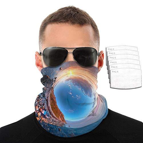 Pañuelo unisex con filtro de carbón activado para exteriores, con 6 filtros.