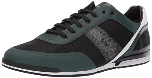 Hugo Boss BOSS Green Men's Saturn Low Profile Mesh Sneaker, Medium Green, 44 Medium EU (11 US)