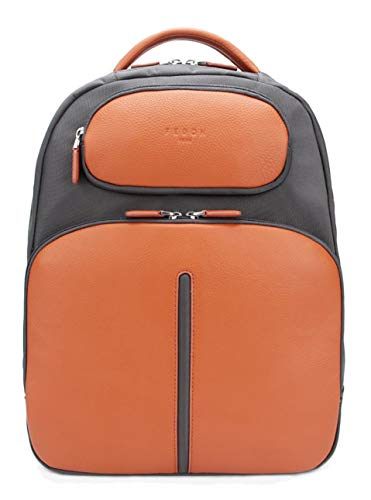 Fedon 1919 Web Sac à Dos Pour Ordinateur Portable 13 En Cuir Et Nylon Mz1930006 Orange