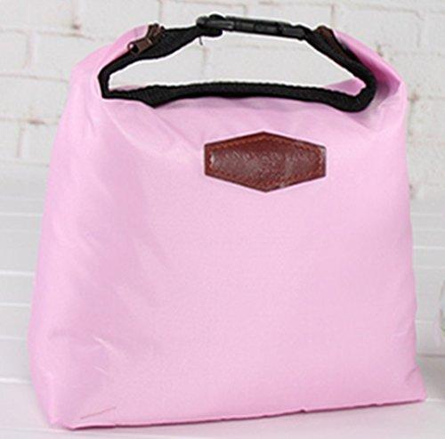 Sacs à lunch d'isolation, Chickwin feuille d'aluminium épaisse de sacs de glace en tissu Oxford, sac de glace fraîche, sac isotherme, sacs de pique-nique, des sacs de repas, sacs de stockage. (Rose)