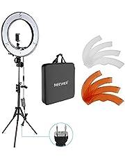 Neewer カメラ寫真ビデオ用照明セット 18インチ/48cm外部55W 5500K調光LEDリングライト、ライトスタンド、スマートフォン、Youtube、自撮り撮影などに使え