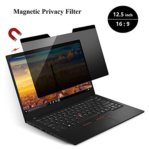 KONEE Magnetic Privacy Filter | Laptop Blickschutzfilter | Notebook Privacy Screen Filter fur 12.5 Zoll Laptop, Magnetischer Sichtschutz – 12.5 Zoll 16:9