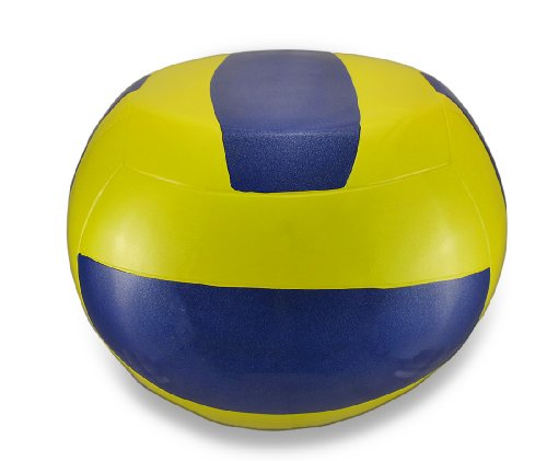 Things2Die4 Yellow and Blue Volleyball Stool Child`s Sport Chair