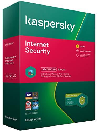 Kaspersky Internet Security 2021 Standard | Limitiert: + Android-Schutz | 1 Gerät | 1 Jahr | Windows/Mac/Android | Aktivierungscode in Standardverpackung