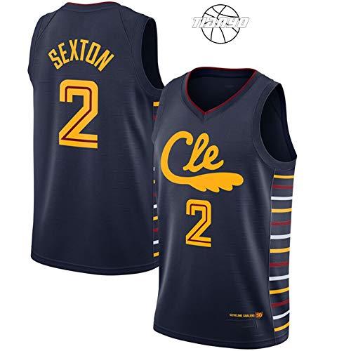 TIANYO Sexton - Camiseta de baloncesto para hombre, transpirable, de secado rápido, color azul marino, XXL