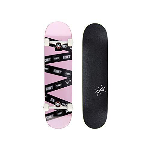 Best Bargain LINGLING-Skateboard Longboard Skateboard Professional Double-Curved Maple Four-Wheeled ...