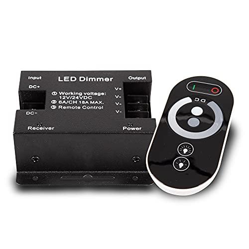 PWM LED Strisce dimmer 12 / 24V per il controllo remoto 18A touch RF