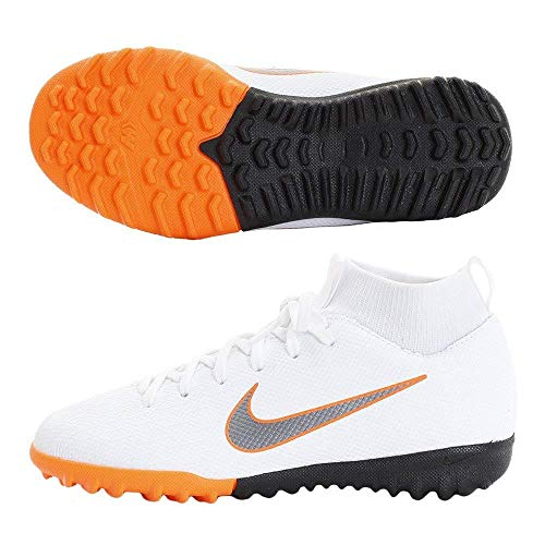 Nike - JR Superfly 6 Academy GS TF - AH7344107 - Couleur: Blanc - Pointure: 37.5