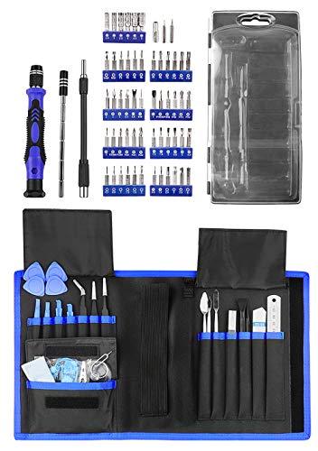 Feinmechaniker Schraubendreher Kit, 80 in 1 Schraubendreher Set mit 54 Bits stark magnetische Präzisions Reparatur Tool Kit, feinmechanik reparatur Werkzeug für iPad Laptop Smartphone Uhren usw