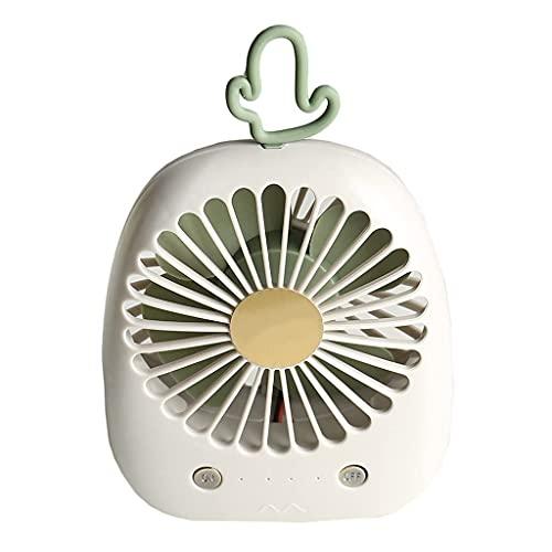 QZH Lindo Ventilador de Mano de piña Mini Ventilador Recargable Cactus Ventilador de Escritorio portátil Dormitorio de Estudiantes Silencio USB (B)