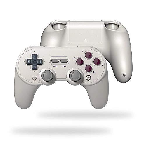 Jklt Gamepad Pro + BT Gamepad-SN Version Wireless Switch Mobile Controller Game Controller Excellente Sensation et Expérience (Couleur : Blanc, Size : One Size)