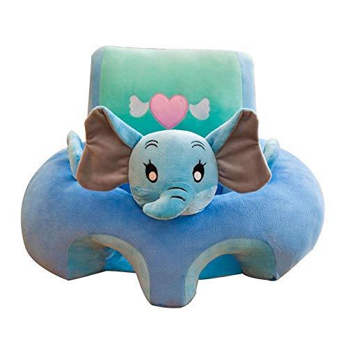 Baby-Sitzkissen für Babysessel, Babystütze, Lerne, Sitzen, weiches Sitzkissen, Sofa, Plüschkissen für Babysitzen für 3 Monate - 16 Monate Baby blau