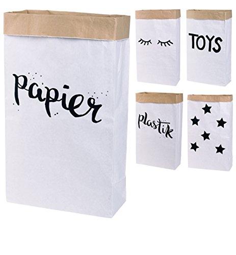 Lifestyle Lover Papiersack Paper Bag eckig aus Kraftpapier Papierkorb (Papier)