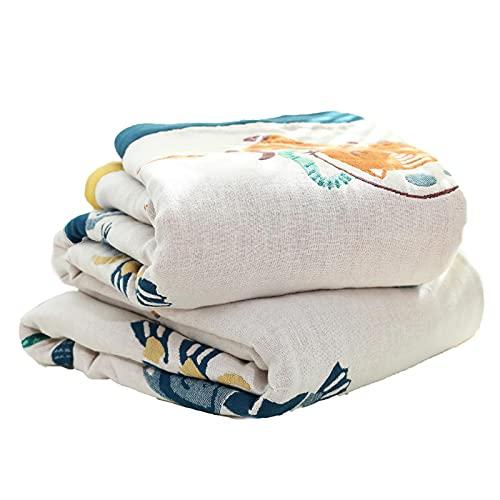 wjmss Mantadas Mantas Mantas de algodón de Verano Mantas de Tiro en la Colcha edredón de Ropa de Cama para la Cubierta del sofá,200 * 230