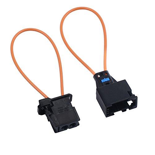 eSynis Adaptador de Cable Óptico de Fibra Óptica del Conector de Cable Óptico de Derivación y Herramienta de Diagnóstico de Adaptador macho para Automóvil