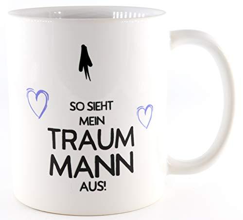 PICSonPAPER Tasse So Sieht Mein Traummann, Valentinstagsgeschenk für Sie und Ihn, Kaffeetasse, Keramiktasse