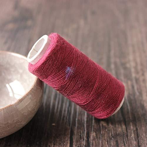 21 soorten kleuren optionele 200yards draad naaigaren polyester naaigaren voor sterke en duurzame machines in de hand,rode wijn