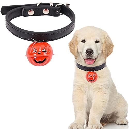 Halloween Pet Collar, Pumpkin Collar Pet Leash, Adjustable Decorations Ornament Neck, For Cat Dog Collar with Bell Pumpkin Bell Pet Collar Decorative (S)