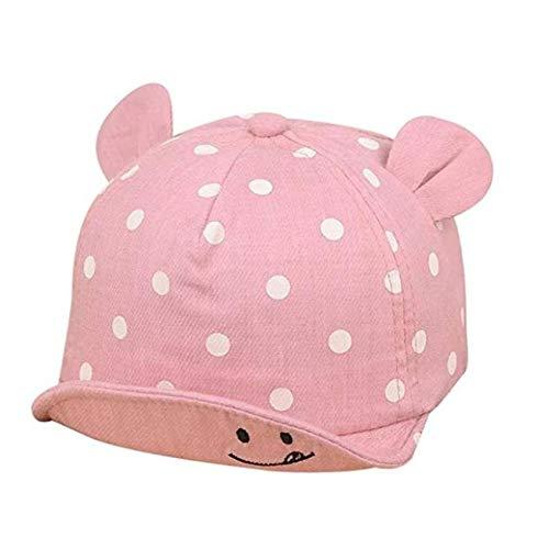 Baorio Sombrero bebé con Orejas Dulces, protección Solar, Sombrero de Verano, Sombrero para niños pequeños, niñas, Gorro de algodón para bebé, Gorro clásico