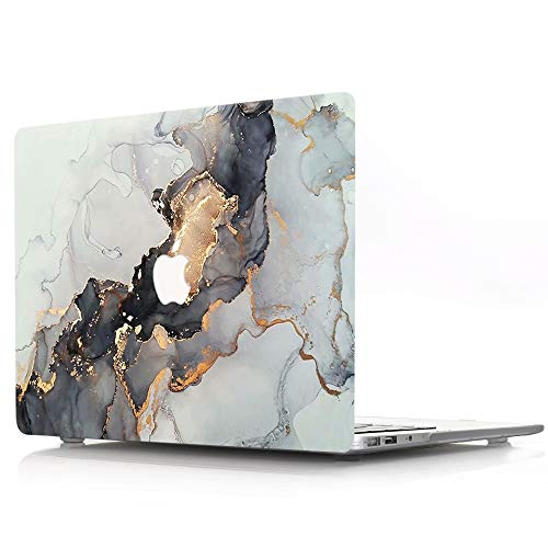"ACJYX MacBook Air 13 Pouces Coque 2017 2016 2015 2014 2013 2012 2011 2010 Version A1369 A1466 Coque De Protection en Plastique Coque Rigide pour Ancienne Version MacBook Air 13"", Marbre Doré"