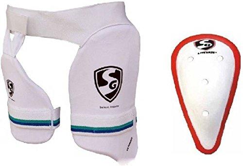 SG Combo de Dos, una Almohadilla de Muslo Combo Ultimate y una protección Abdominal Litevate (Color en disponibilidad) – Kit de críquet
