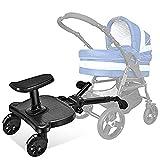 EFGSbed Patin para Carro Bebe Universal, Buggy Board con Asiento de Pie, Longitud Ajustable, La Carga Máxima es de 60 Libras Asiento de Bebé (Niños de 2 a 5 años)