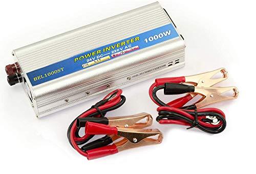 Kalea-Informatique–Convertidor de tensión (24V en 220V AC–DC)–Potencia 1000Watts (2000W en cresta)–Profitez de una toma Sector en 220V a partir de una fuente en 24V.