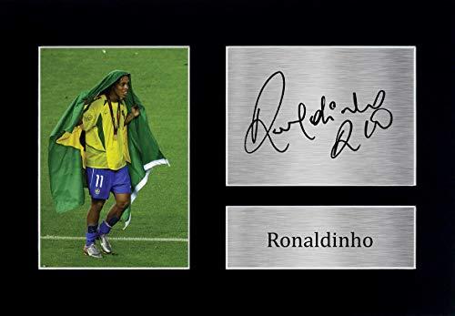 HWC Trading Ronaldinho A4 Ungerahmt Signiert Gedruckt Autogramme Bild Druck-Fotoanzeige Geschenk Für Brazil Fußball Fans