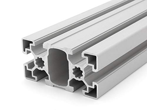 Aluminiumprofil 45x90L B-Typ Nut 10 - Zuschnitt 50mm-2000mm (24,00 EUR/m + 0,50 EUR pro Schnitt, min. 2,50 EUR) 80mm