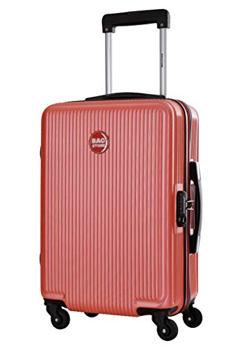 BAGSTONE Valise Cabine Rigide Goldy - 4 Roues - Corail