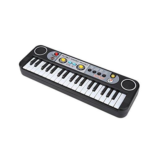 Queen.Y Niños Teclado Piano 37 Teclas Eléctrico Teclado Digital Piano Instrumentos Musicales Juguete para Niños con Micrófono para Niñas Niños Principiantes