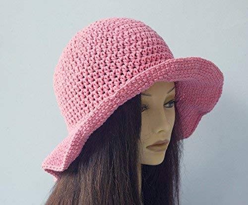 Hand Crochet Cotton Sun Brim with Wide Miami Mall Hat Large discharge sale