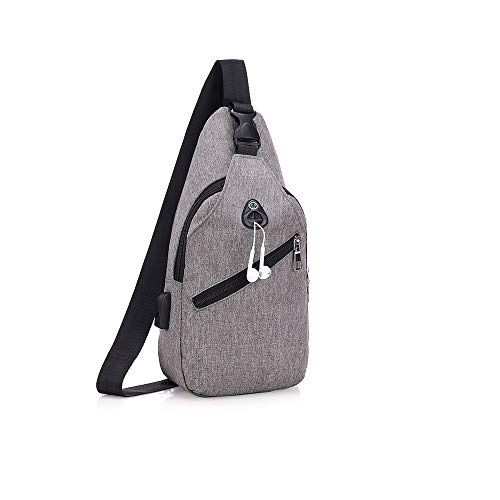 NAGA Canvas Sling Bag Shoulder Backpack Outdoor Travel Crossbody Pack for Men