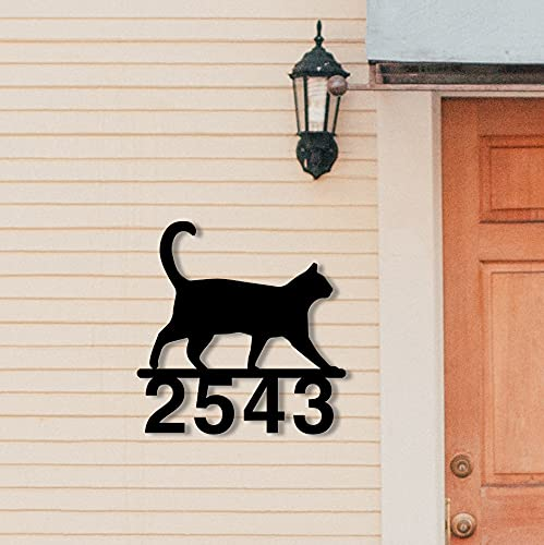 Walking Charlotte Mall Cat House Number - Kansas City Mall Decorative Steel A Personalized Solid