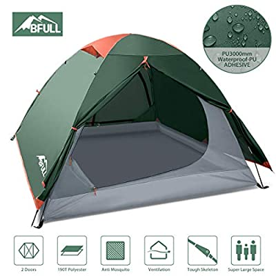BFULL Camping Tents 2-3 Person Lightweight Backpacking Tents for Hiking Camping Outdoor Travel, Waterproof Pestproof Windproof Double Layer Dome Tent