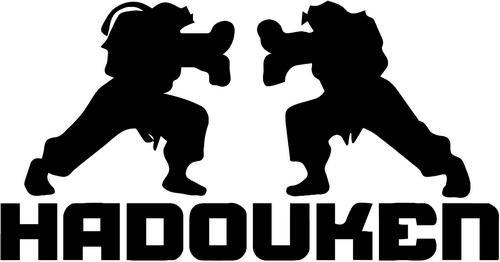 Street Fighter Hadouken Vinyl Decal Sticker Bumper Car Truck