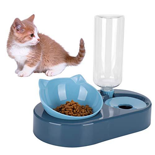 Sanpyl Mangiatoia per Animali Domestici, erogatore di Acqua Sanitaria, Ciotola per Acqua e Cibo, plastica Automatica Non tossica per l'approvvigionamento(Blue, Box Packaging)