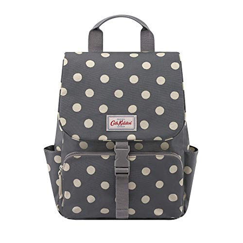 Cath Kidston Button Spot Charcoal Grey Buckle Backpack To Fit 13' Laptop 885560