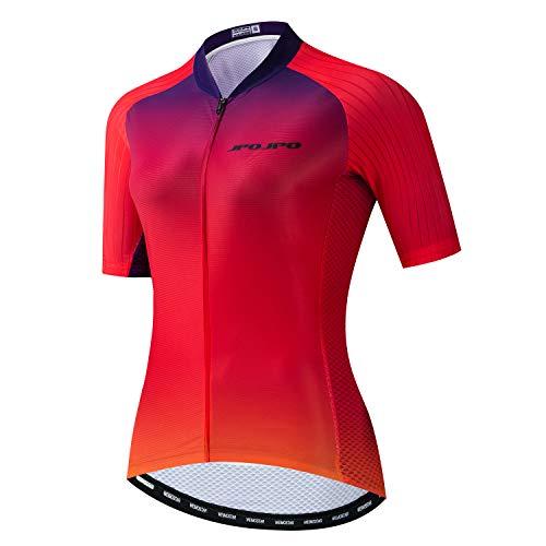 JPOJPO - playera de ciclismo para mujer (talla S-3XL), 4 bolsillos, Jp6015., Tag S for Chest31-33.9'