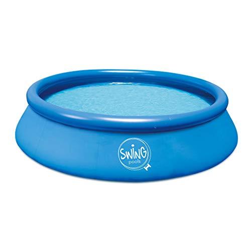 well2wellness® Quick-Up Pool Aufstellbecken Swing Ø366 x 76cm blau