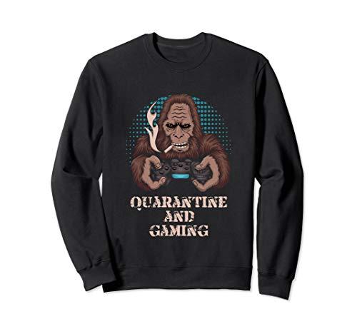 Quarantine And Gaming Bigfoot Chill Gamer Gift Sweatshirt